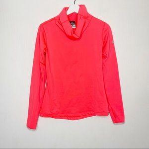 Nike Pro Funnel Neck Sweatshirt in Coral